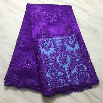 Nigerian Lace Fabric African Mesh Tulle Lace Fabrics High Quality French Net Lace Fabric For Wedding Party Dress PSA753-5
