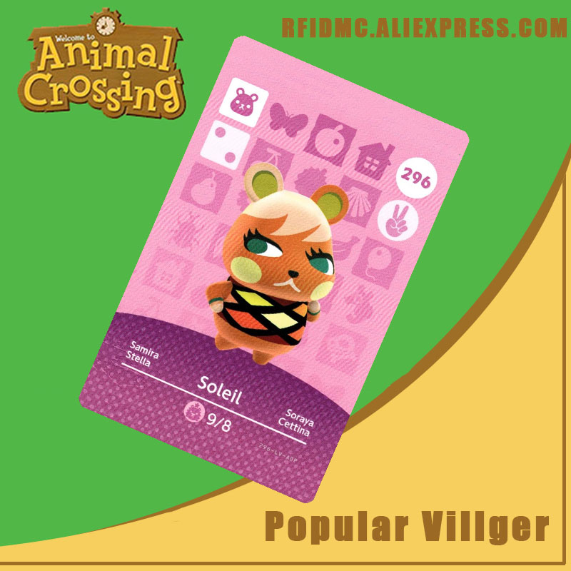 296 Soleil Animal Crossing Card Amiibo For New Horizons
