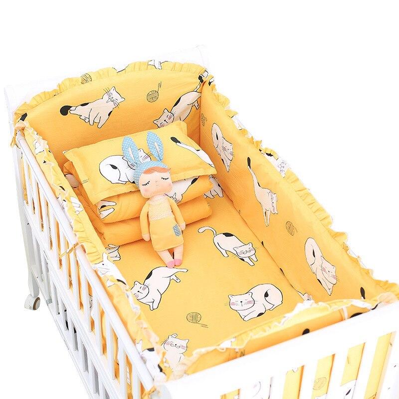 Parure De lit bébé De Neuf Peut Personnalisé 100% Coton Bébés Dessin Animé Linge De Lit Couette Oreiller Prévenir Les Collisions Toutes Saisons
