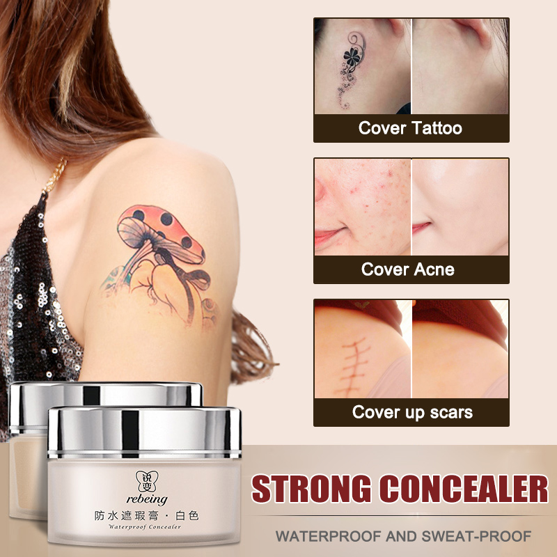 Top Luxury Hot Sale Tattoo Concealer 2-Colored Toned Waterproof Cover Scar Birthmarks Cream Makeup 60ML ---MS