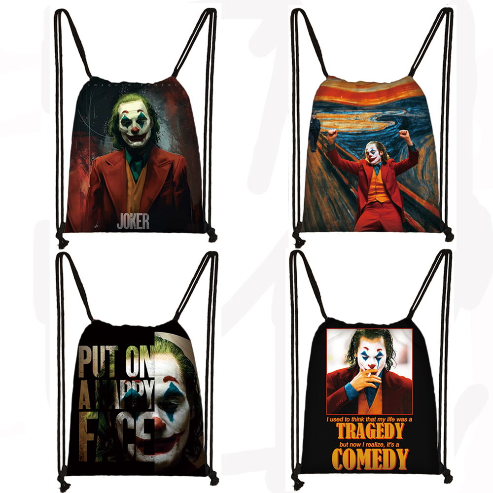 Joker Be Reborn Drawstring Bag Joaquin Phoenix Women Men Fashion Storage Bag Teenager Boys Girls Backpack Party Shopping Bags