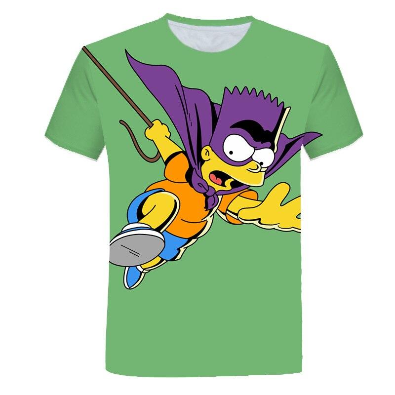 2020 nouveau dessin animé Anime hommes T-shirt 3D sauvage tendance Simpson beau T-shirt o-cou sport Punk décontracté hauts S-6XL