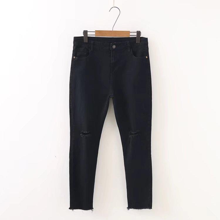 Большие размеры мужского фасона с дырками Джинсы женские штаны Классные джинсовые винтажные джинсы для девочек средней талией