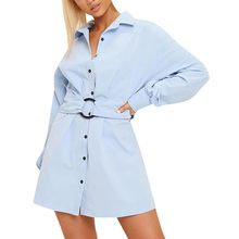 Fashion Women's sexy dress Long Sleeve V-Neck Slim fit Loose Solid Color Casual Dresses платье женское vestido party dress dre(China)