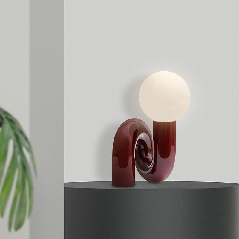 Glass Desk Lamp