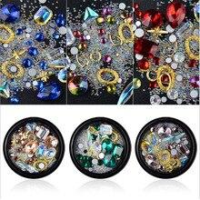 3D nail art ornaments,Diamond Transparent AB Rhinestone Crystal Glass Drill Jewelry Elf  rivets, micro bead flash supplies