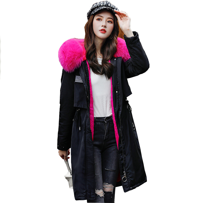 2019 New Female Parka Women Winter Solid Coat Thick High Quality Outwear Sweet Women Jacket Plus Size