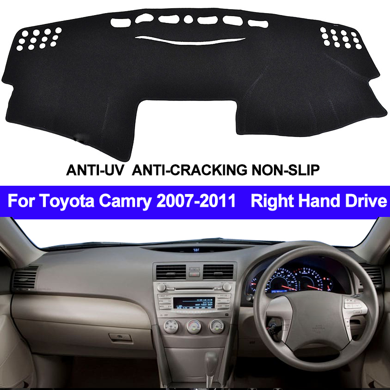 TAIJS For Toyota Camry Altise / Camry Hybrid XV40 2007 - 2010 2011 Dash Mat Dashmat Dashboard Cover Right Hand Sun Shade Carpet