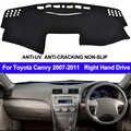 TAIJS para Toyota Camry Altise/Camry Hybrid XV40 2007-2010 2011 Dash Mat Dashmat mano derecha parasol alfombra