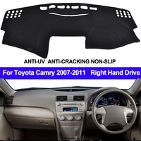 TAIJS para Toyota Camry Altise/Camry Hybrid XV40 2007 2010 2011 Dash Mat Dashmat mano derecha parasol alfombra|Almohadilla antisuciedad de coche| |  -