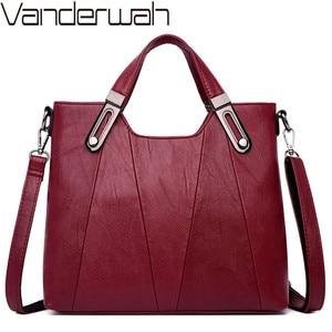 Image 1 - Luxury Soft Leather Handbag Women Bag Designer Female Crossbody Bag High Quality Famous Brand Shoulder Bags for Women Tote Bags