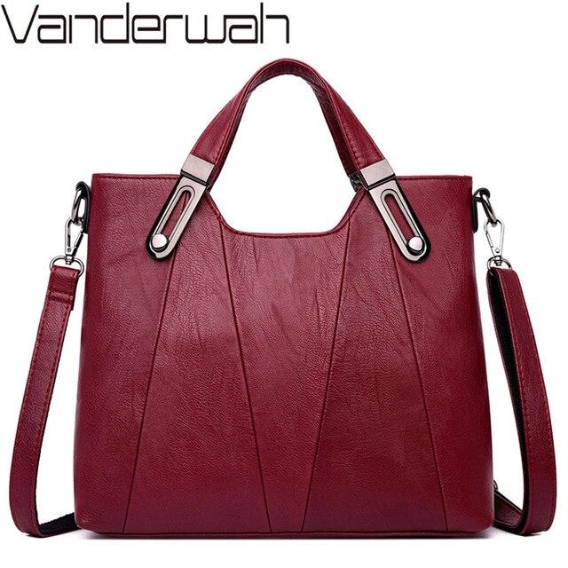 Luxury Soft Leather Handbag Women Bag Designer Female Crossbody Bag High Quality Famous Brand Shoulder Bags for Women Tote Bags