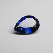 7*9mm 5 sztuka dużo niebieski szafir luźny kamień szlachetny 34 # korund gruszka cut kamień szafirowy do biżuterii tanie tanio meisidian GDTC SAPPHIRE Grzywny