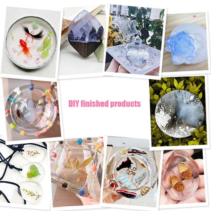 Transparent Crystal Clear Epoxy Resin Glue Kit A B Epoxy Resin Set For DIY Jewelry Crafts Yellowing Resistance Dropshipping 5