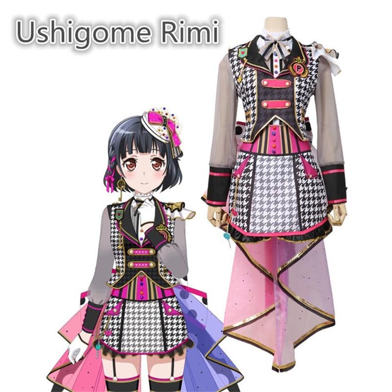 Anime Bang Dream! Poppin'Party Ushigome Rimi Cyberpunk Suit Cosplay Costume Halloween Gorgeous Dress Rimiri Costumes H(China)