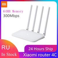 Router Wireless Xiaomi 4C 64MB 300Mbps Smart Control Router Internet WiFi ad alta velocità ad alta velocità con 4 antenne ad alto guadagno