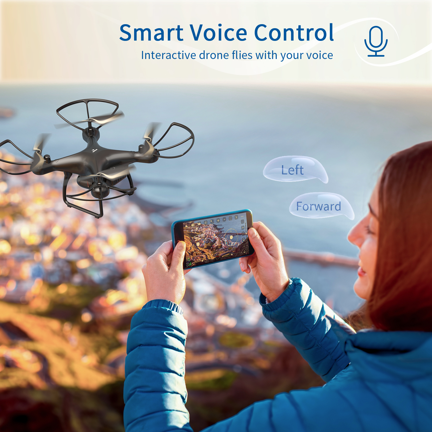 SNAPTAIN SP650 Drone 2-Axis Gimbal Camera 2K HD Video Camera Drone Voice Gesture Control Wide Angle Foldable Quadcopter RC dron 5