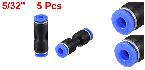 uxcell Plastic Straight Union Push to Connect Tube Fitting 8mm OD Push Fit Lock 8pcs