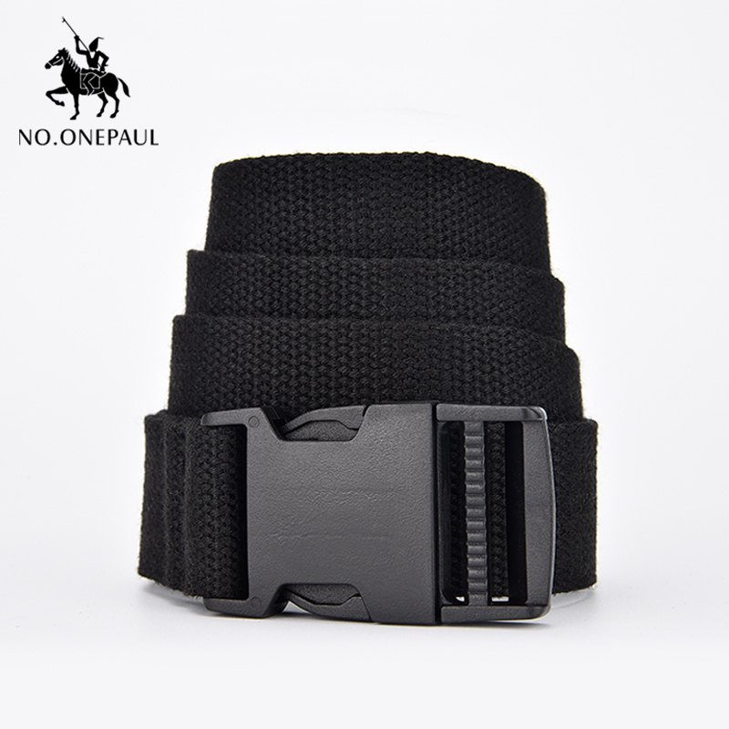 NO.ONEPAUL Women Can Adjust The  Trend Comfortable Solid Color Cloth With Brand Luxury Buckle New Casual Outdoor Tactical Belt