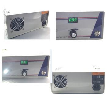Promoción de ventas 60W 80W LED endoscopio fuente de luz Storz caja de luz de fibra, cable de fibra de lobo ENT entrada AC220v o 110V.