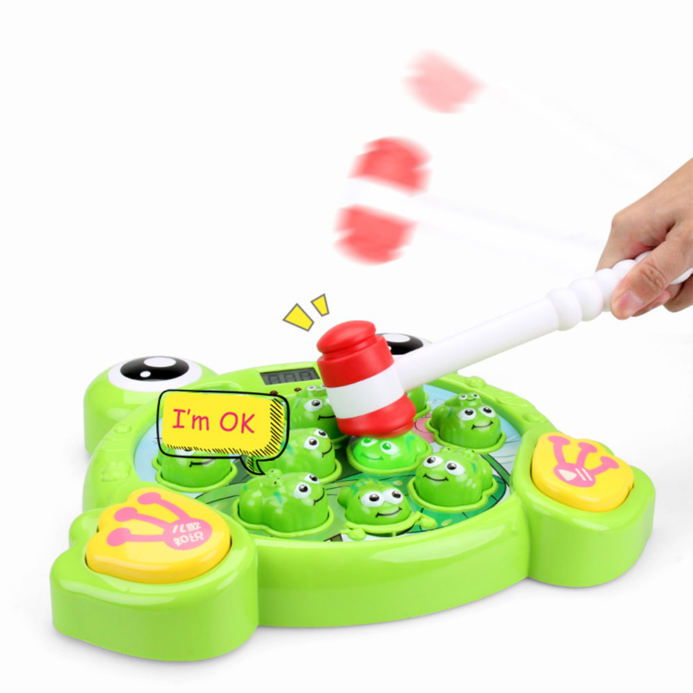 1 Set A Frog Game Hammering Pounding Toys Kit Educational Interactive Pounding Toys With Music Lights