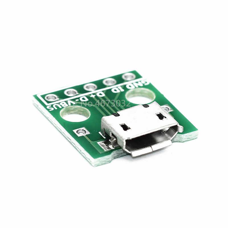 10pcs MICRO USB ไปยัง DIP ADAPTER 5PIN หญิงขั้วต่อ B ประเภท PCB Converter Breadboard USB-01 สวิทช์บอร์ด SMT แม่ที่นั่ง