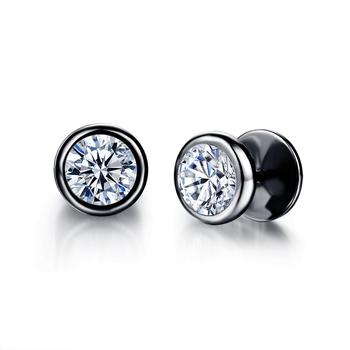 Small Punk black Stainless Steel Stud Earrings For Women Man fashion minimalist zircon Ear Jewelry accesories.jpg 350x350 - Small Punk black Stainless Steel Stud Earrings For Women Man fashion minimalist zircon Ear Jewelry accesories brinco masculino