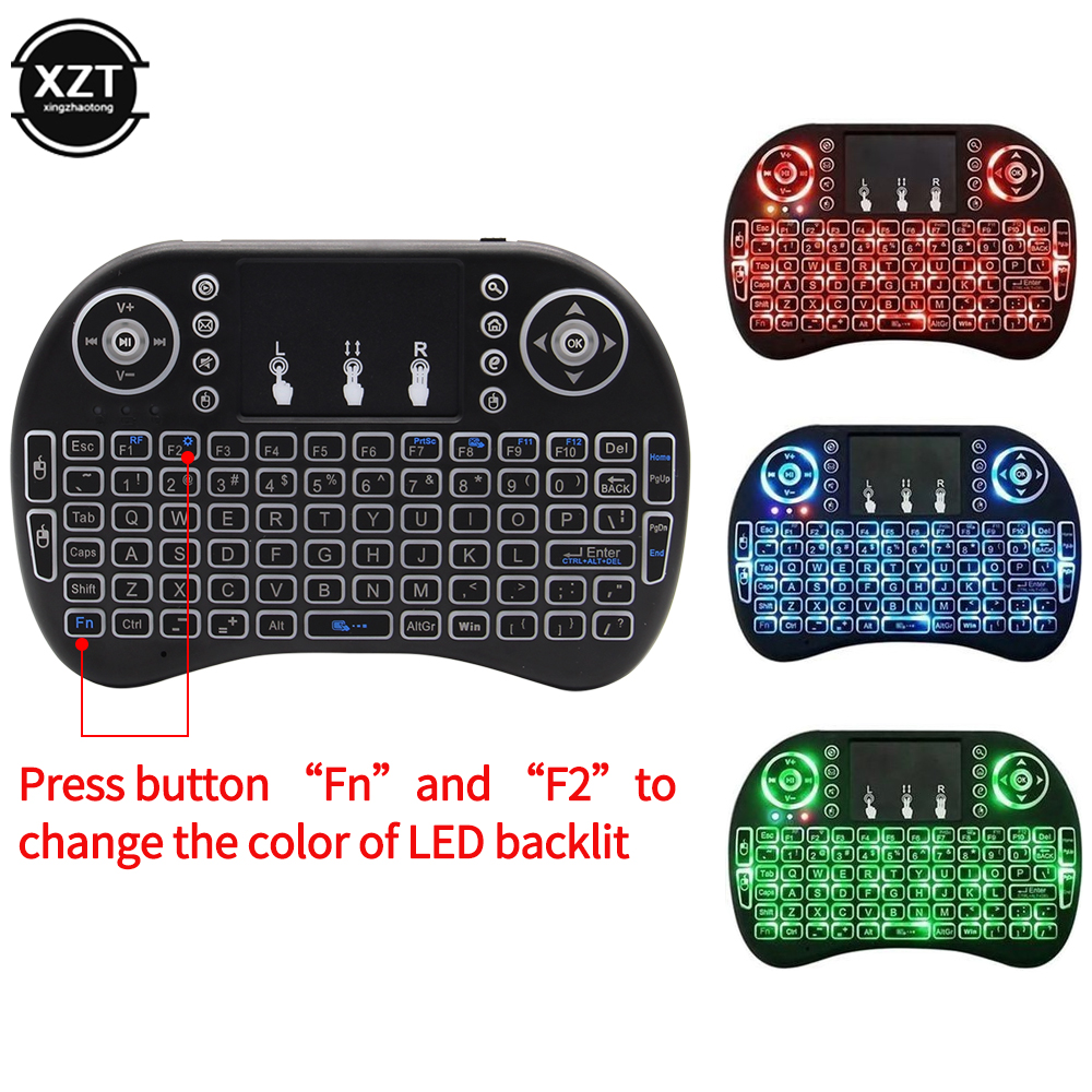 Backlit I8 2.4G Mini Keyboard Remote Control English Air Mouse Wireless Keyboard for Laptop TV BOX Touchpad Handheld Remote NEW