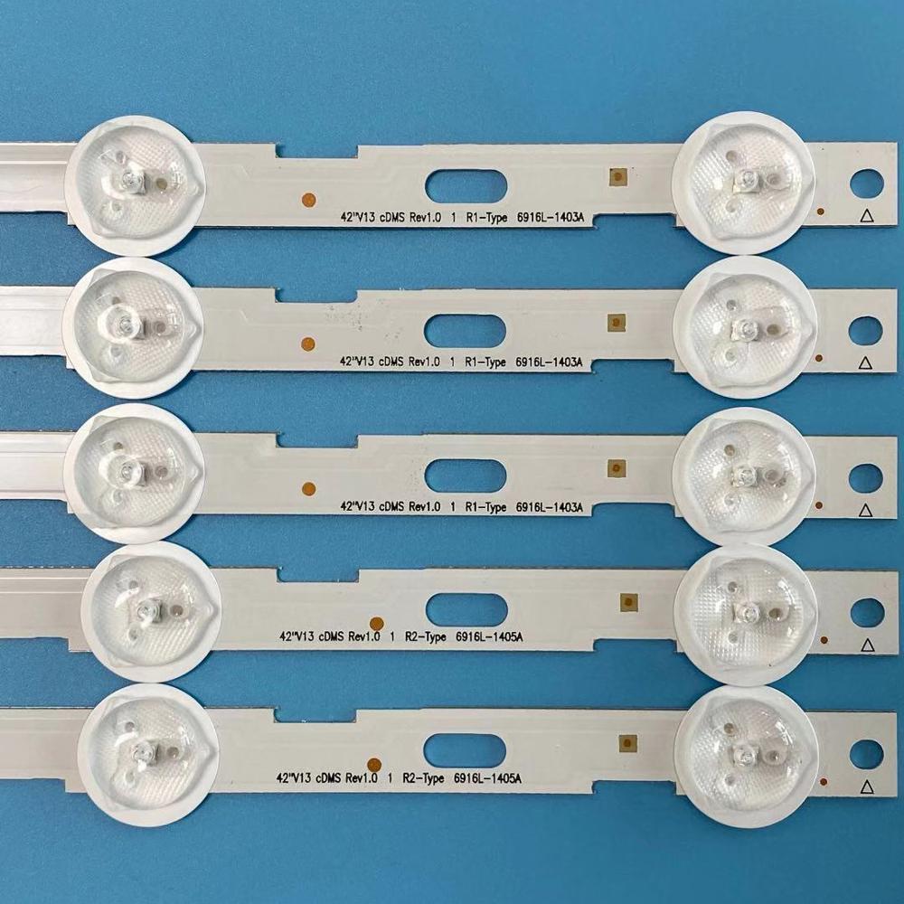 Image 5 - 839mm LED Backlight strip 10leds For LG 42 inch LCD TV 42LN5200  6916L 1402A 6916L 1403A 6916L 1404A 6916L 1405A V13Remote Controls   -