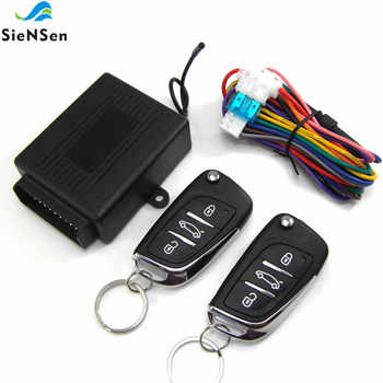 SieNSen Car Auto Alarm Remote Central Door Locking Vehicle Keyless Entry System Kit 12V With Uncut Key Blade and logo M602-8175