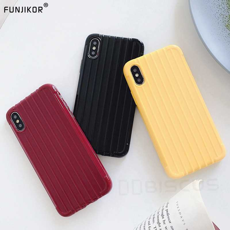 Trunk Stripe Phone Case For Samsung Galaxy Note 10 S8 S9 S10 Plus J4 J6 J8 A9 A7 2018 J3 J5 J7 2017 J2 Prime Soft Silicone Cover