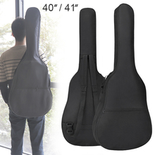 цена на 40/41 Inch Portable Durable Oxford Fabric Guitar Case Gig Bag Double Straps Padded 5mm Cotton Soft Waterproof Backpack
