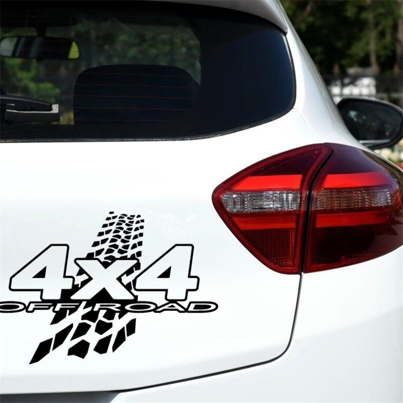 <font><b>4X4</b></font> <font><b>OFF</b></font> <font><b>ROAD</b></font> Mud Funny Vinyl Decals Car <font><b>Sticker</b></font> Car-styling Decoration 20cm*13.6cm image