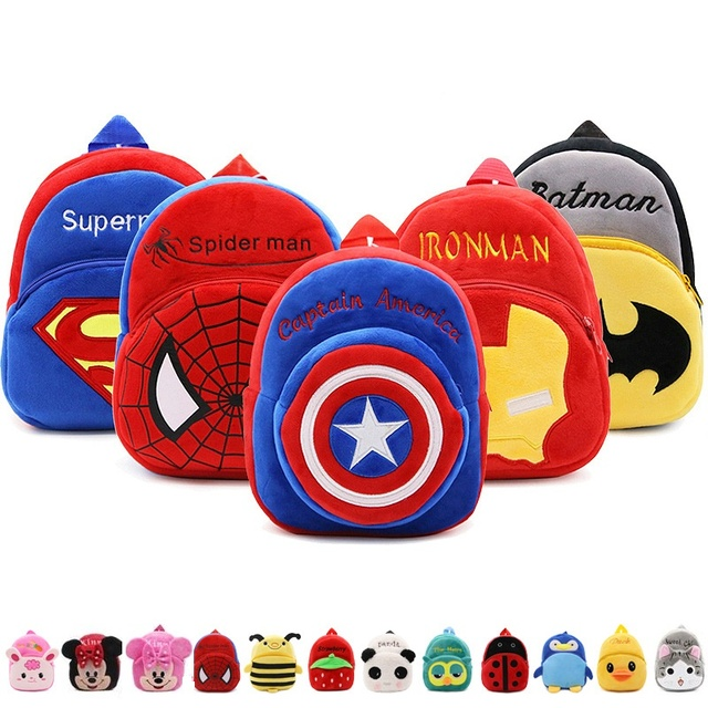 Cute baby school bag cartoon mini plush backpack for kindergarten kids boys girls gift student Children lovely schoolbag