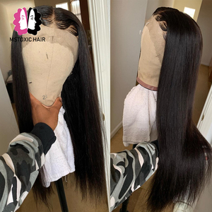 Image 2 - Mstoxic 13×4 Lace Front Human Hair Wigs Brazilian Straight U Part Human Hair Wig 4x4 Closure Wig Remy Hair 360 Lace Frontal Wig