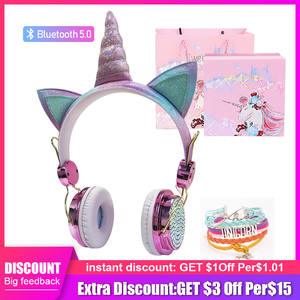 Unicorn Headset Microphone Tablet Auriculares Bluetooth 5.0 Wireless with for Laptop