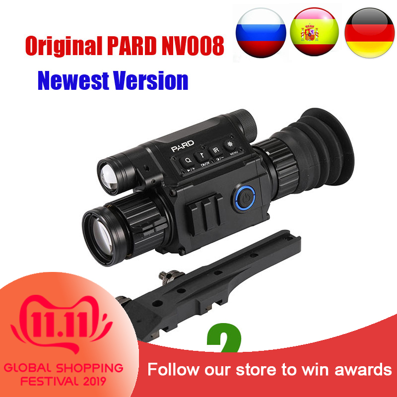 PARD NV008 Infrared Night Vision Scope Wifi APP 6.5-12X IR Night Vision Riflescope 5w 850nm NV Monocular Adjustable Picatiny