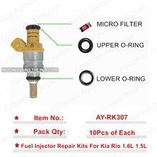Frete grátis 10 conjuntos/30 pçs kit de reparo injector combustível para peças 0k30e13250 para kia rio 1.5l 1.6l para AY-RK307