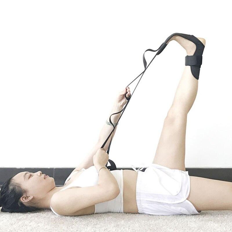 Yoga Ligament Stretching Belt Foot Drop Stroke Hemiplegia Rehabilitation Strap Plantar Fasciitis Leg Training Foot Ankle