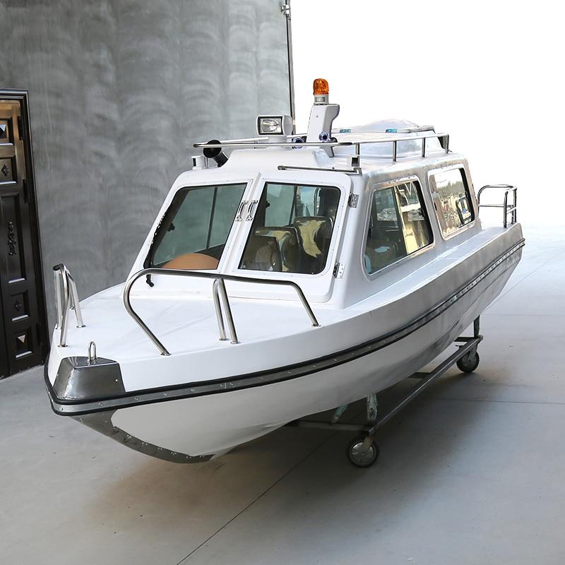 6m Half Shed Fiberglass Boat FRP High Speed Fishing Vessel Aluminum Yacht Sea Fishing Ship Boat