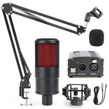 Kit de Microphone à condensateur de Studio, pour ordinateur portable, PC, enregistrement, voix, karaoké, cardioïde, pour Yotube, vidéo en direct