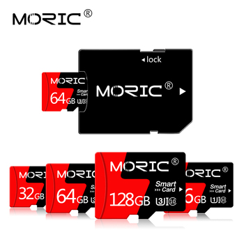Newest Moric SD/TF Flash Card Mini Card Class 10 256GB 128GB 64GB Memory Card 32GB 16GB 8GB Micro SD Card with Free adapter image