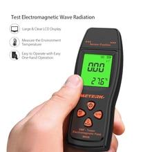 Electromagnetic Radiation Detectors Meterk LCD EMF Meter Handheld dosimeter Electromagnetic Field Radiation Dosimeter Tester цена