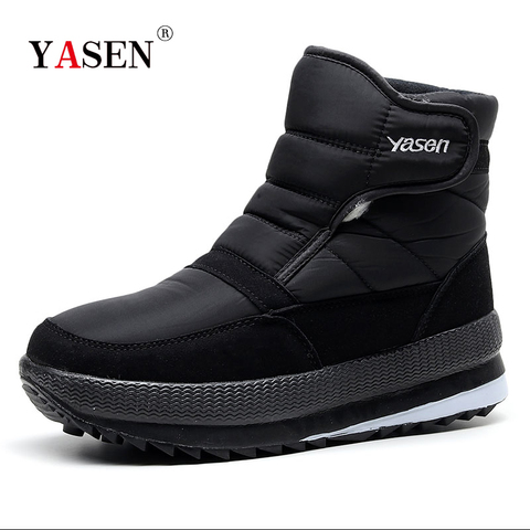 SNOW SHOES  Men Boots Winter with Fur 2019 Warm Snow Boots Men Winter Work Casual Shoes Sneakers High Top Rubber Ankle Boots Pakistan