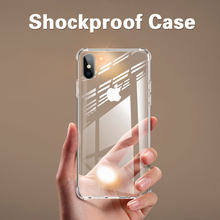Schokbestendig Clear Silicone Telefoon Case Voor Iphone X Xr Xs Max 7 8 Plus 6 6S Plus 11 Pro max Case Transparante Bescherming Back Cover(China)
