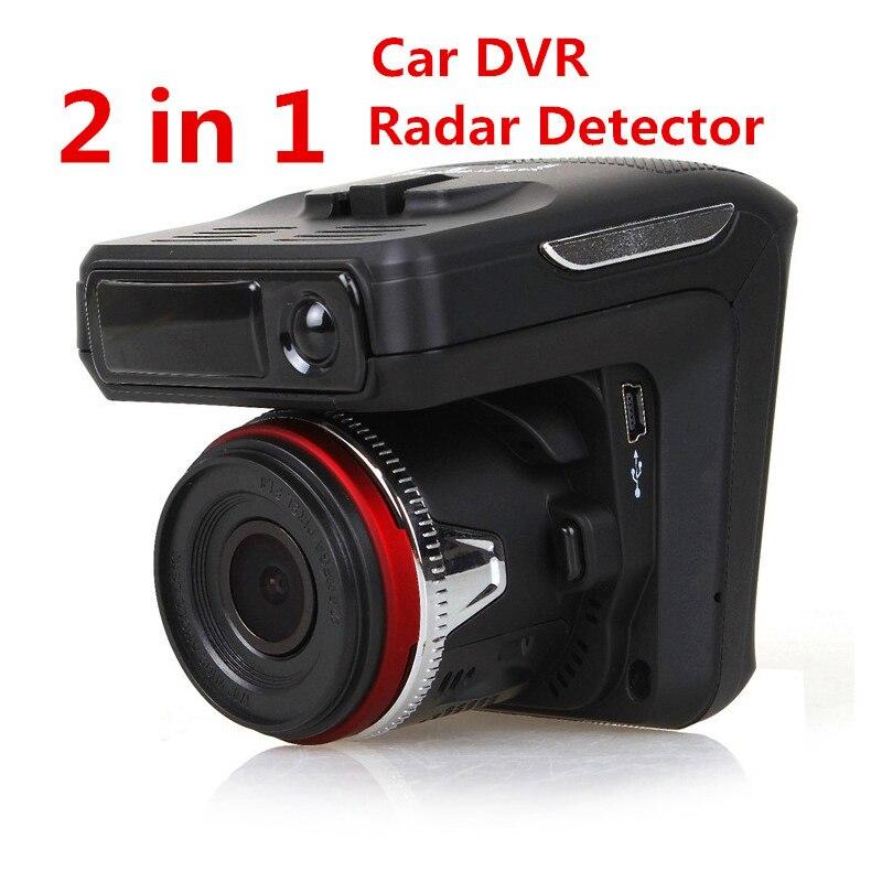 X7 радар Автомобильный видеорегистратор тире камера-детектор видео Регистраторы 2 в 1 HD 1080P угол 140 градусов Русский язык Dash Cam Видео Регистрат...