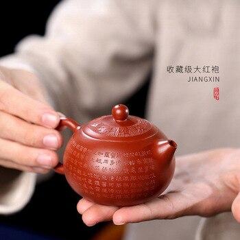 Аутентичный yixing чайник Чистая ручная роспись dahongpao ni кунг-фу чайник