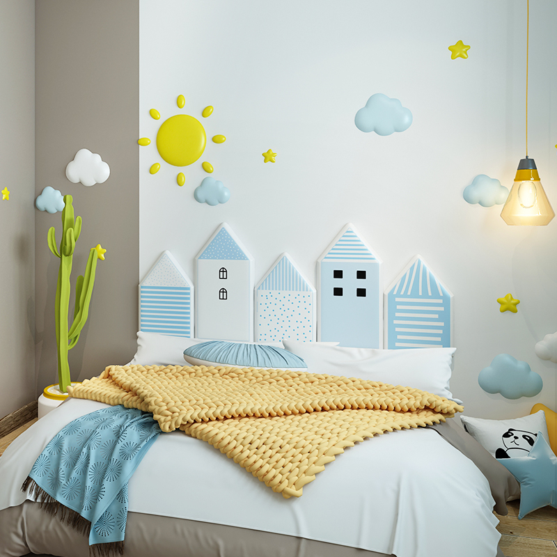 Soft bag kindergarten anti-collision bedside soft bag baby bedroom wall paste tatami wall around children's self adhesive soft