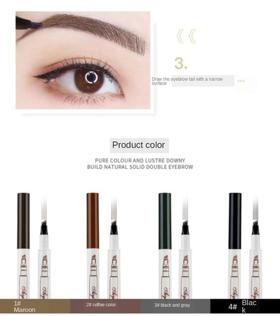 MB 4 Color Eyebrow Pencil Tint 4 Tip Brow Tattoo Pen Paint Makeup Eyebrows Waterproof Cosmetic Eye brow Liner 1