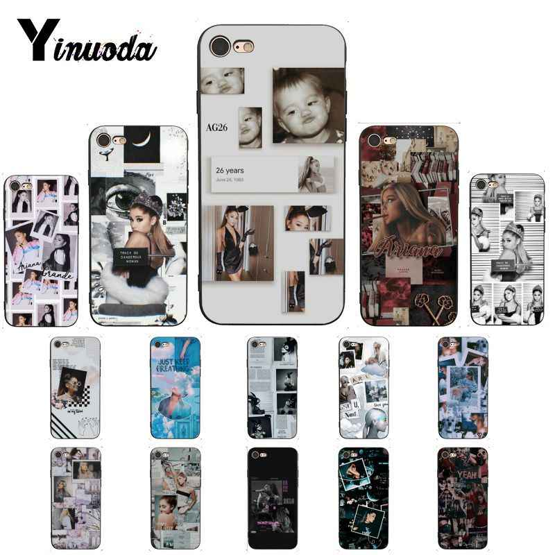 Yinuoda Ariana Grande DIY Luxus High-end-Schutz Telefon Fall für iPhone 8 7 6 6S X XS MAX 5 5S SE XR 10 11 Pro Max